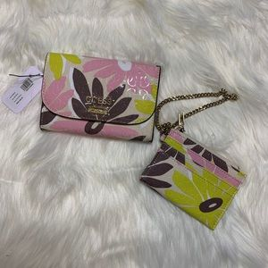 Guess Floral Clutch and Wristlet Set